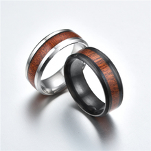 Buy Fashion Men Ring Creative Wide Band Wood Titanium Steel Rings Women Men Wedding Couple Rings Jewelry bague Size 11 12 13 14 for $1.07 in AliExpress store