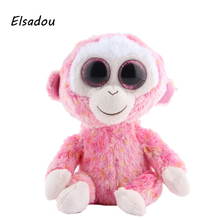 Elsadou Ty Beanie Boos Stuffed & Plush Animals Pink Monkey Toy Doll
