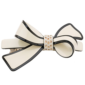 2016 New Chaplet High Quality Classic Bow Hair Accessories Barrettes Women Rhinestone Hair Clips Ladies Top Clips Free Shipping(China)