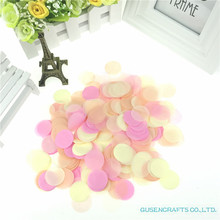 1500pcs 1inch Round Multicolor Confetti Paper Birthday Decor Baby Shower Cake TopperTable Decoration Christmas Party Supplies
