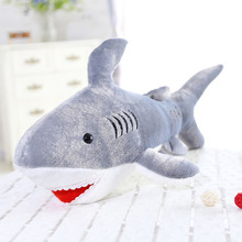 50cm Kawaii Soft Giant Shark Plush Whale Stuffed Fish Ocean Animals Doll Toys for children kids cartoon toy for baby's gift