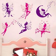 2017 Kids Bedroom Living Room Background Vinyl Wall Stickers Sitting Room Decor Home Decal Art Mural Decoration Small Elf Fairy