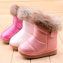 1 pair free shipping winter The New Children boots girls Soft bottom baby thick snow boots b1XZ0083