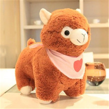 1Pc 30Cm 8Styles Love Heart Scarf Alpaca Creative Sheep plush toy doll birthday Valentine's Day Gift Stuffed Soft toy