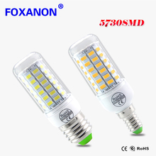 E27 E14 LED lamp 220V (200-240V) 24 36 48 56 69 72LEDs Corn Bulb Replace CFL 5W 7W 9W 11W 12W 15W 20W 25W Fluorescent Light