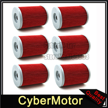 6x Oil Filter For SKI DOO SKANDIC V-800 RENEGADE 800 BOMBARDIER DS650