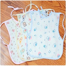 Large Vest Type Cotton Baby Drool Towel 100 % Waterproof Baby Bib Burp Cloth Overclothes Infant Soft Garments 30*28cm(China)
