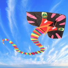 8M New Large Cyan Snake Kite Easy To Fly Children's Toys Outdoor Fun Sports Gift Good Flying Toy Sets For Children Adult
