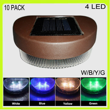 Wholesale 10 PACK heart shape solar LED fence light led pool outdoor swimming pool garden park lawn waterproof Ni-MH battery