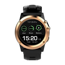Microwear H1 3G Smartwatch Phone 1.39 inch Android 4.4 Smart Watch MTK6572 Dual Core 1.2GHz 4GB ROM IP68 2.0MP Camera Pedometer(China)