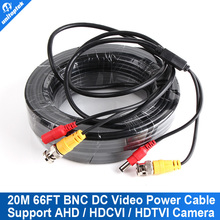 20m(66ft) CCTV Cable BNC+DC Connector CCTV Video Power Cable Support For HDCVI,HDTVI,AHD Security Camera Or Array IR CCTV Camera