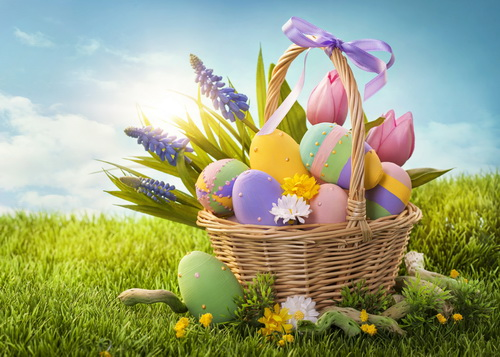 Easter day basket colorful egg photo prop washable fleece photography backdrops for studio photography backgrounds  HG-386-A<br>