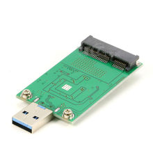 USB3.0 to mSATA SSD External USB 3.0 Conveter Adapter without Case No USB Cable Need(China)