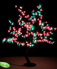 0.8M /2.6 ft height LED Cherry Blossom Tree Outdoor indoor Wedding Garden Holiday Party Light Decor 240 red LEDs+green leaf