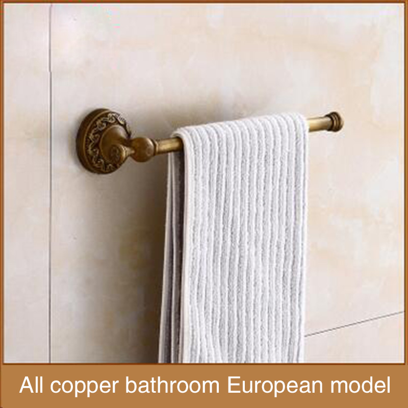 High-end towel rod, Wenzhou manufacturers supply high-end bathroom hardware, pure copper, rust proof single towel rod<br>