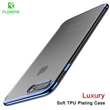 FLOVEME Phone Case For iPhone 7 6 6S 8 Plus 3D Transparent Cover For iPhone 7 8 iPhone 6 6S Case Soft TPU Silicon Shell Capa(China)