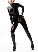 Buy Latex Fashion Suit Leggings Tight Latex Outfits Rubber Girls Shirt Back Zip Tights Pants