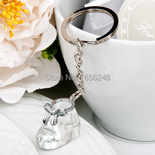Wedding Favors and Gifts Crystal Collection Baby Shoe Keychain Baby Christening Gifts Baby Shower Favors(China)