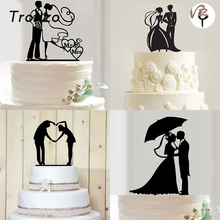 Tronzo New Romantic Acrylic Cake Topper Mr Mrs Hollow Cake Accessory Wedding Cake Topper Decoration Party Supplies