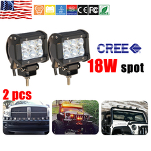 CO LIGHT 2PCS LED Work Light Bar 18W 6500K Cree Led Chips Flood Spot Beam Daytime Running Light for 4x4 Offroad 12v 24v Vehicle