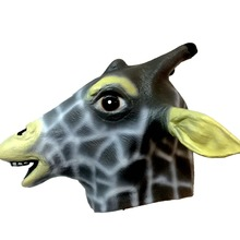 Cute Giraffe Latex Mask Full Face Halloween Animal Head Rubber Masks Coaplay Party Creepy Masquerade Costume Props Adult Size(China)