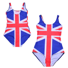 United Kingdom Women Swimwear One Piece Swimsuit The Union Flag British Backless Monokini Female Bathing Suit Swim Wear