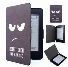 pu leather print cover case for amazon all-new kindle paperwhite 300 ppi ereader 2015 touch screen 6'' case+screen protector
