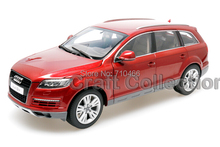 Red Car Model 1:18 Kyosho Audi Q7 2009 SUV Diecast Model Car Off Road Vehicle Cross Country Jeep