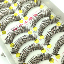 Very Beautiful Eyelashes 10 Pairs/Lot Winged Beauty Supplies Eyelashes Individual False Eyelashes NOT Include Glue For Lashes(China)