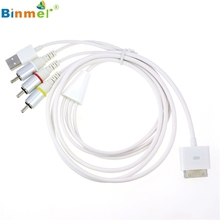 Superior Quality Composite Video to TV RCA AV Cable USB Charger For iPhone 4S 4 for iPad 3 2 Feb16