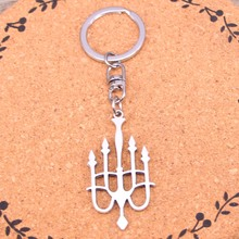 Fashion Amulet Charm Evil Eye Sliver Plated keyring candlestick chandelier Alloy Keychain For Gift Car Key Chain Jewelry(China)