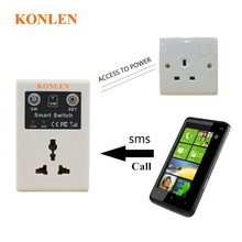 Gsm Power Socket Switch Based Sim Card Sms Call Remote Control for Smart Home Automation KONLEN(China)