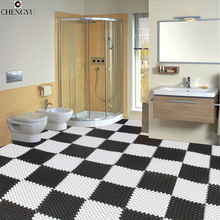 bath mats Creative PVC mats DIY  impermeable kitchen bathroom personality varities colors one piecepastoral S2MY014