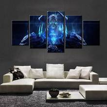 5 Pieces World Of Warcraft Kel Thuzad Home Wall Decor Painting Canvas Art Hd Print Painting Canvas Wall Picture For Home Decor(China)