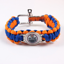Screw Adjustable Paracord Bracelet EDMONTON OILERS NHL Charm Bracelet Outdoor Camping Survival Friendship Bracelet
