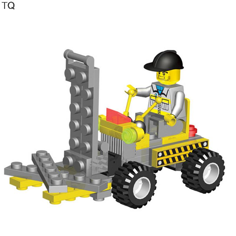 City Engineering Team Handling Fork Lift Truck Minifigure Block Building Brick Toys Diy Block Gift Compatible with Legoe <br><br>Aliexpress