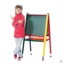 New Arrival colorful Board Painting Frame Wooden Children Multifunctional Lifting Double Size Magnetic Easel Combo(China)