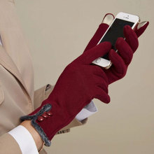 2016 Woman Winter Gloves Hand Warmer Long Touchscreen Wrist Gloves Female Mittens Thick Warm Heated Gloves Gants Femme(China)