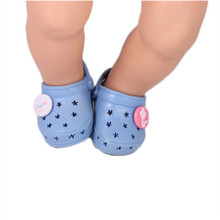 ZXZ Bule Shoes Dolls Suitable fits 43 Cm Dolls Baby Born Zapf Doll Accessories Doll Shoes for Girls Gifts..x8