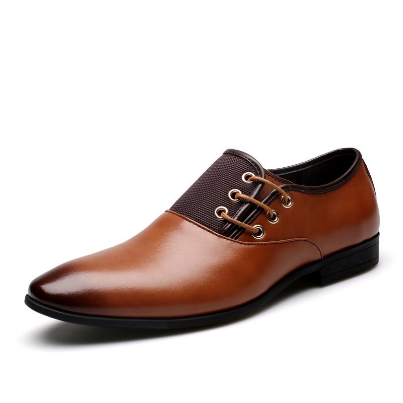 New Arrival 2016 Men Business Dress Shoes Autumn Leather Shoes Oxford Shoes Men Lace Up Mens Shoes Plus Size Zapatos Hombre<br><br>Aliexpress