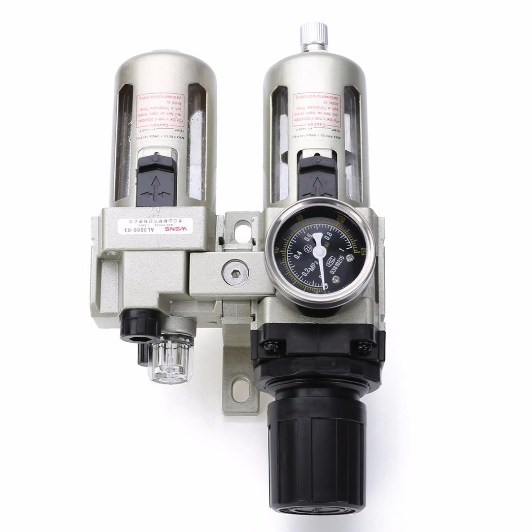 Durable Air Compressor Filter Regulator Gauge Trap Oil Water Separator Trap Filter Regulator Gauge Mayitr New Arrival<br>
