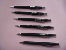 free shipping 6pcs black 0.5mm metal automatic pencils high quality mechanical pencil propelling pencil