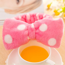 New Multifunctional Flannelette Bows Elastic Headband For Bath Shower Exercise Headwear Hair Accessories For Woman Hairband