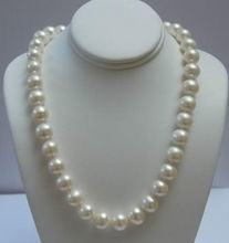 AAAA+ ELEGANT 11-12 MM WHITE AKOYA PEARL NECKLACE earring gift