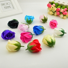5x6cm Cheap Soap Rose Head Romantic Wedding Valentine's Day Gift Wedding Banquet Home Decoration Hand Flower Art(China)