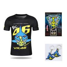 New Valentino Rossi VR46 46 Shark Motocross Jerseys bike Cycling Racing Motorcycle Bicycle Motor QUICK-DRY Short Sleeve T-shirt