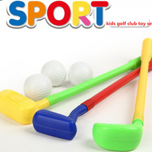 Free Shipping Children Kids Golf Club Toys B Set 2 Golf Clubs + 2 Golf Ball Toy Sports for Kids Grasping Ability Developing