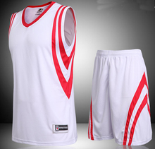 Men plain basketball sets  adult blank basketball jerseys man sports kits men running suits adult sports vest and shorts