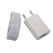 Original For Iphone7 plus 6 plus 5 5s SE Power Charger Adapter+1m 8pin USB Charging Charger Cable For Ipone Mobile phone charger
