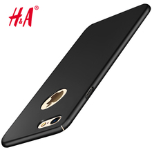 H&A Hard Back Plastic matte PC Full Black Cover for iPhone 6 Case 6s 6 plus Cover For iPhone 7 Case 7 Plus Red Cases Cover Phone